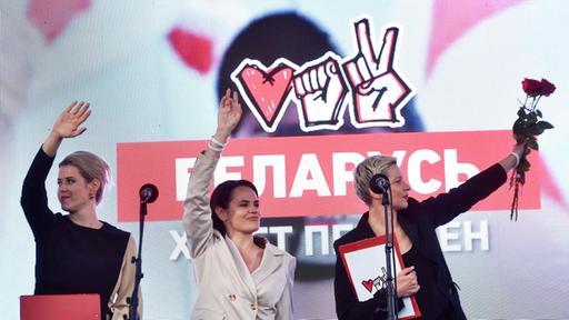 """Präsidentschaftswahlen in Belarus: Lukaschenko gegen """"die drei Gnaden"""""""