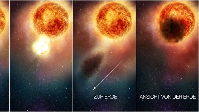 Wissenschaftler: Staubwolke verdunkelte den Riesenstern Betelgeuse
