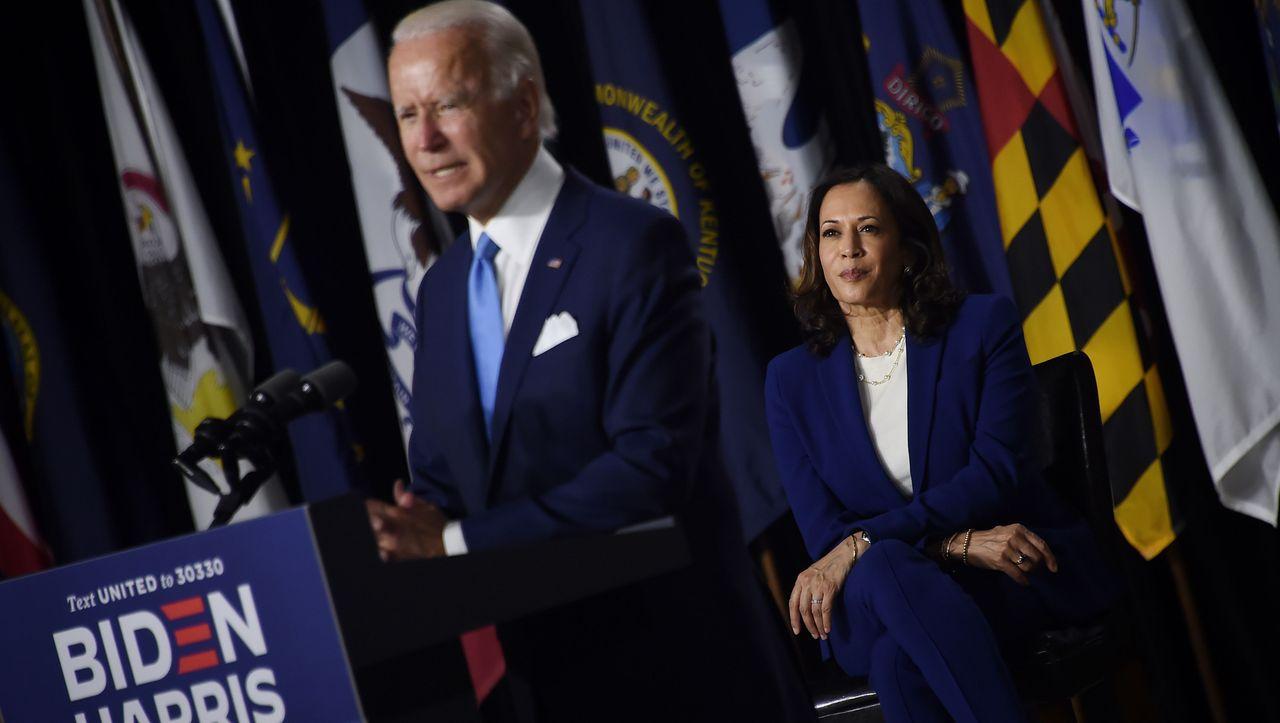 Joe Biden und Kamala Harris: Erster gemeinsamer Auftritt mit Angriffen gegen Donald Trump
